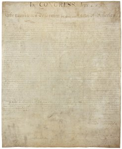 The US Declaration of Independence